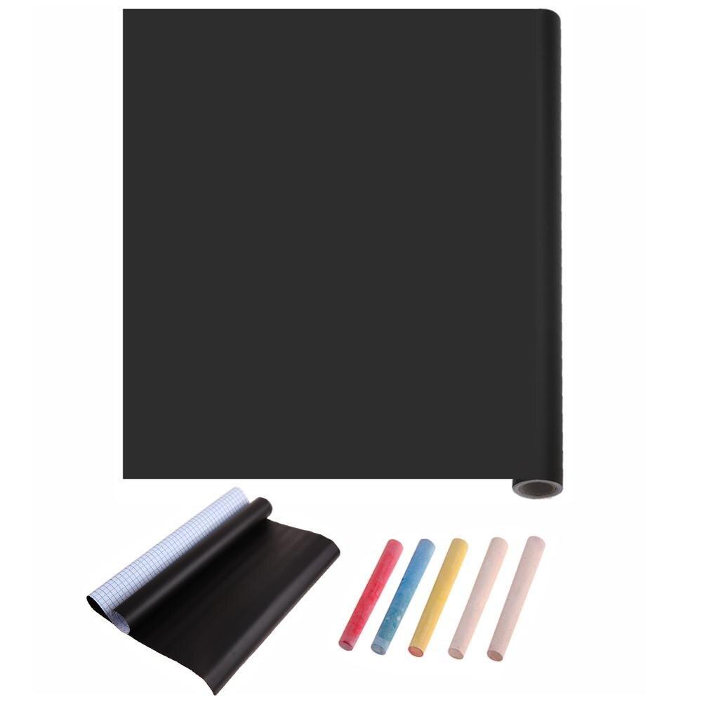 Graffiti Blackboard Sticker Chalk Writing-Board Teaching-Tool-Supply With 5xcolorful