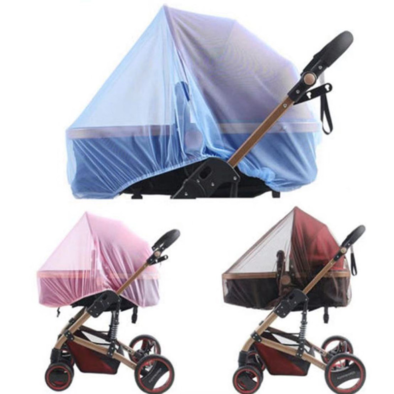 Baby Stroller Pushchair Mosquito Insect Net Safe Mesh Buggy Crib Netting Cart Mosquito Net Pushchair Full Cover Netting