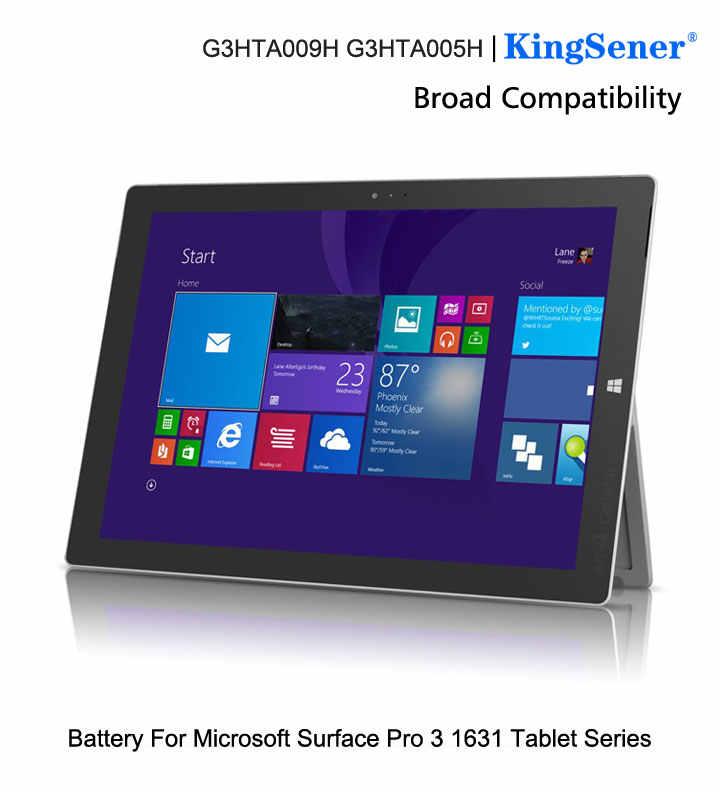 Kingsener G3HTA009H MS011301-PLP22T02 ラップトップマイクロソフト表面プロ 3 1631 タブレット G3HTA005H G3HT 7.6V 5547mAh 42.2WH