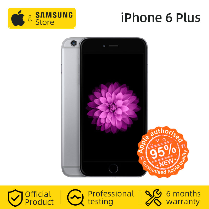 Desbloqueado Apple iPhone 6 Plus 16/64GB ROM 5,5 pulgadas 1080P pantalla Dual Core 1,4 GHz 8,0 MP Cámara 3G WCDMA 4G LTE de teléfonos móviles