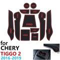 Kaymaz kauçuk fincan yastık kapı oluk Mat Chery Tiggo için 2 Tiggo2 Tiggo 3x MVM X22 DR3 2016 ~ 2019 aksesuarları mat telefon için