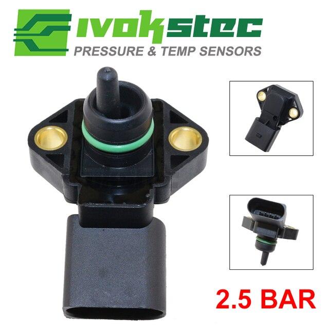 0281002177 2.5 BAR Manifold Absolute Pressure MAP Sensor For AUDI A2 A3 A4 A6 TT 1.2 1.4 1.8 T 1.9 2.5 TDI 038906051 062906051