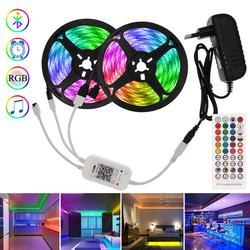 7.5M/15M Backlight RGB Tape with Bluetooth Controller Led Strip 12V 5050 Music sync Flexible Neon Lights Ribbon Lamp for Bedroom
