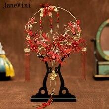 Janevini 2020 Роскошные китайские свадебные букеты вентилятор