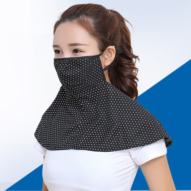 Women Summer Outdoor Breathable Neck UV Protection Shawl Sun-proof Face Mask 1