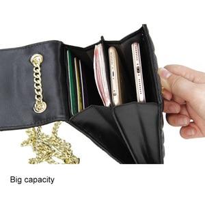Image 4 - Echtes Leder Mode Designer Telefon Geldbörse Mini Schulter Tasche Qualität Schaffell Kleine Klappe Taschen Frauen Umhängetasche Messenger Taschen