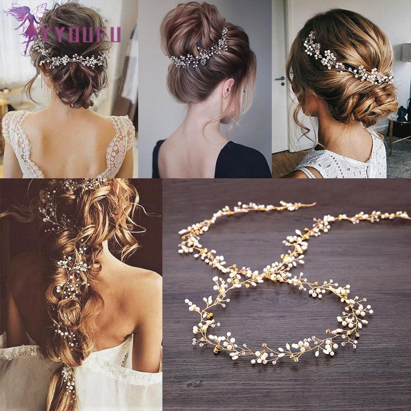 Women Pearl Crystal Hair Clip Bobby Pin Hairband Hairpin Barrette Comb Access HU