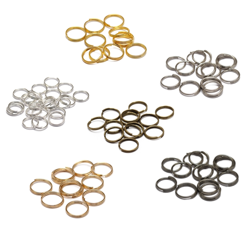 200pcs/lot 6 8 10 12 14mm Open Jump Rings Double Loops Gold Silver Color Split Rings Connectors For DiY Jewelry Making Supplies