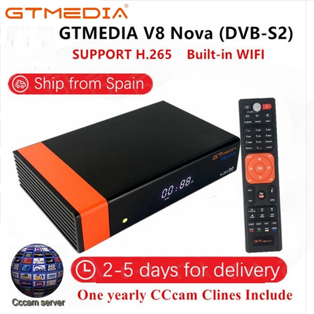 Receptor GTMedia V8 Nova Full HD DVB-S2 1 Ano Europa Cccam Receptor de Satélite Freesat V9 Super Atualização De Freesat V8 super