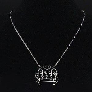2020 Paimon sceal Sigil Люцифер печать сатана ожерелье из нержавеющей стали Baphomet серебряное ожерелье скрывает украшения для футболки N3053S03