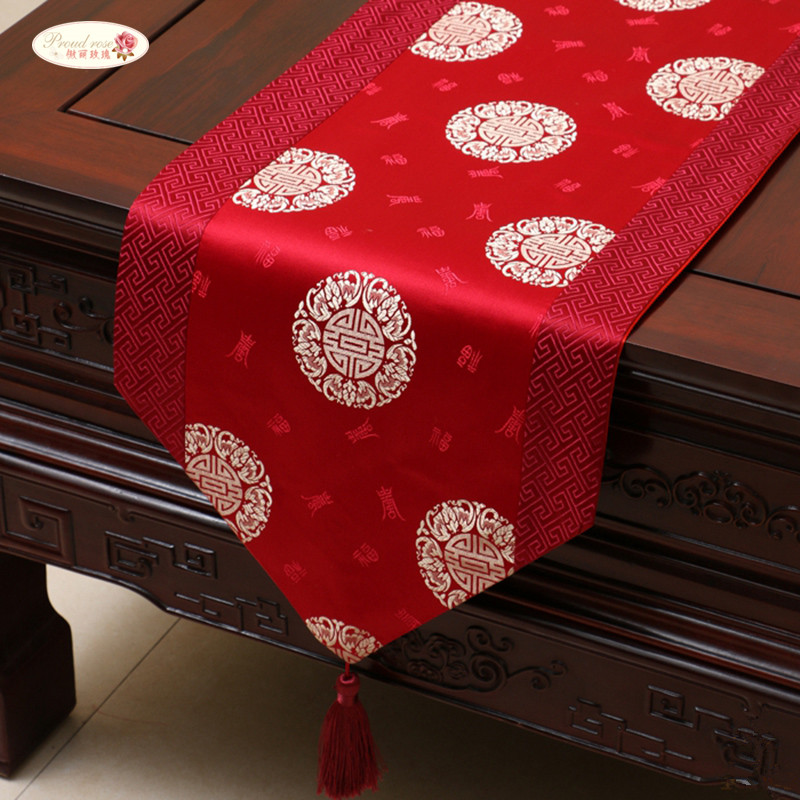 Proud Rose Chinese Style Satins Table Runner Tablecloth Bed Runner Tea Table Runner Table Flag Table Decoration