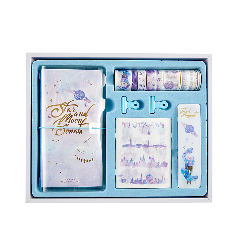 Best Promo C5a11 Cute Notebook And Journal Set Kawaii A6 Diary