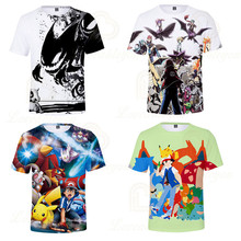 Cute Pikachu Pokemon Baby Boys T-Shirt 3D Kids T Shirt Girl Summer Clothes Graphic Tees Japan Anime Camisetas Tops harajuku fashion graphic tees women colored cactus t shirt slim fit cute girl s tshirts tees
