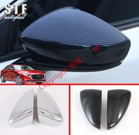 ABS Side Mirror Cover Trim For Mazda 3 M3 Axela 2019 2020|Chromium Styling|   -