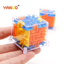 YANUO 3D Puzzle Labyrinth Toy For Kid Funny Brain Game Case Baby Balance Box Educational Toys For Kids Holiday Gift