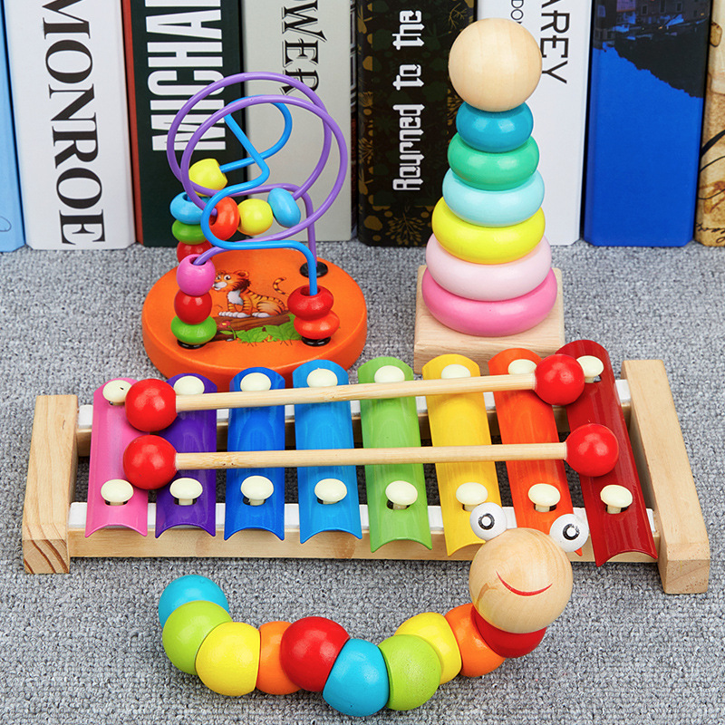 Bead-stringing Toy Beaded Bracelet Children'S Educational Toy 1-2 A Year Of Age 3-Year-Old Women's Infant Early Childhood Baby B