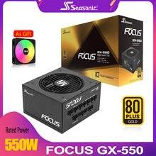 Seasonic focus gx550w Питание psu pfc бесшумный вентилятор 550w