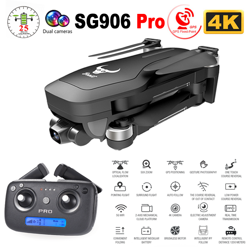 SG906 Pro GPS Drone with Camera 4K HD Two-Axis Anti-Shake Self-Stabilizing Gimbal 5G WiFi FPV RC Quadcopter Helicopter Toy VS F8