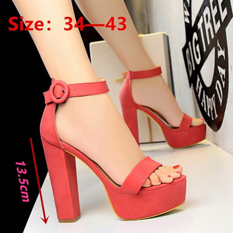 High Heels Sexy Women Pumps Wedding Shoes Women Heels Summer Ladies Shoes Female Fashion Open Toe Belt Buckle Sandals Tacones