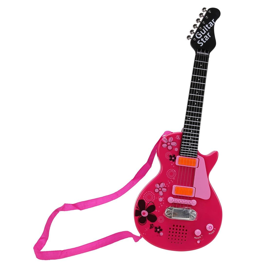 KSL355830 Electric Guitar Musical Instrument Toy For Children - Pink