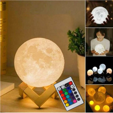 3d светильник в виде Луны ночник для украшения дома спальни