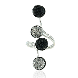 1 Pc Women's Simple Black Resin Peas Rings Gold And Metal For Female Personality Unique Punk Ring Jewelry New 2020