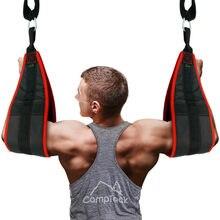 Banda muscular abdominal pendurado ab cintas acolchoado ab estilingue abdominal crunch gym perna levantar puxar para cima queixo para cima faixas de resistência fitness