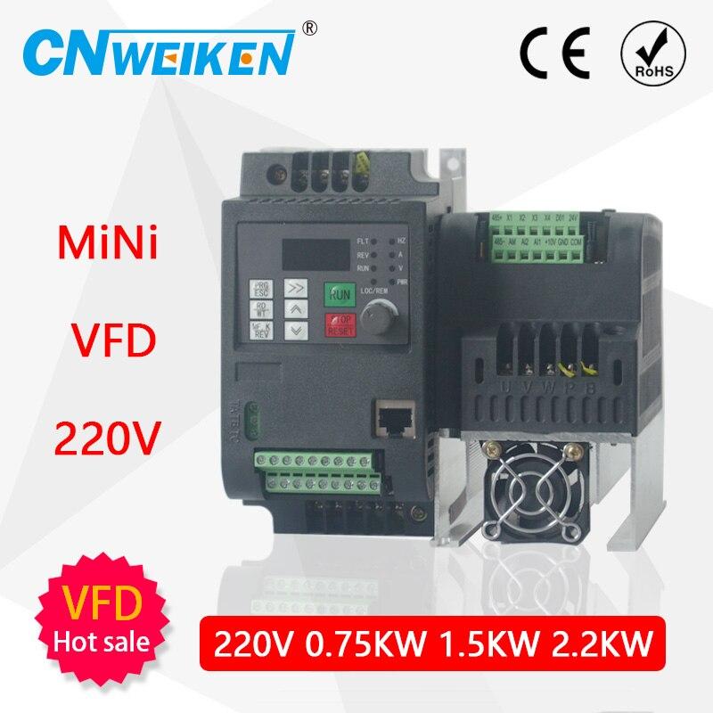 Przemiennik częstotliwości 220 3 fazy Mini VFD napęd o zmiennej częstotliwości do silnika prędkość starowany przemiennik częstotliwości przemiennik częstotliwości