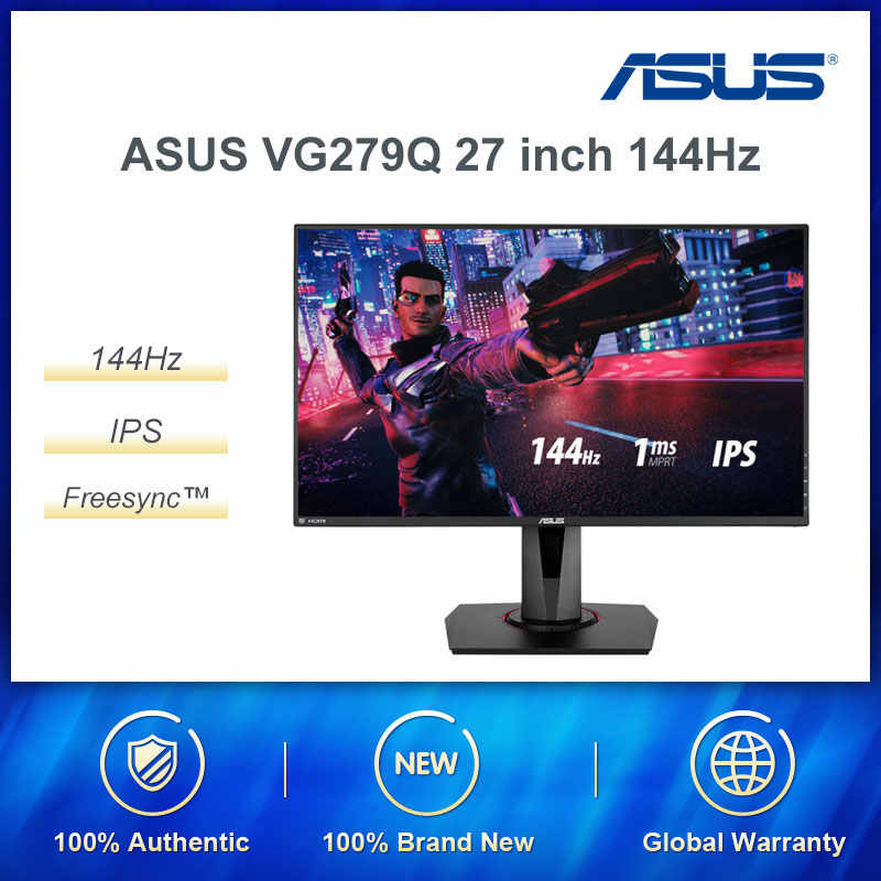 "ASUS VG279Q 27 ""フル Hd 1080p IPS 144 60hz 1ms 2 18k ゲームモニターケア (MPRT) DVI/DP/HDMI v2.0 FreeSync/Adaptiv"