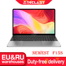 Plus récent Teclast F15S 15.6 pouces ordinateur portable Windows 10 ordinateur portable 1920x1080 Full HD Intel Apollo Lake ordinateurs portables 8GB RAM 128GB ROM double Wifi