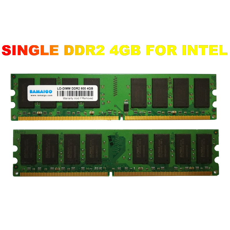 DDR2 PC2-6400 800mhz SINGLE DDR2 4gb 2GB 8GB Ram Desktop 1.8V CL5 Non-ECC Desktop Memory Modules For AMD Intel Motherboard