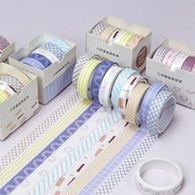 5 рулонов набор декоративного скотча Васи шириной 10 мм для маскировки клейкая декоративная Праздничная поделка ленты пуля журналы Ежедневн...