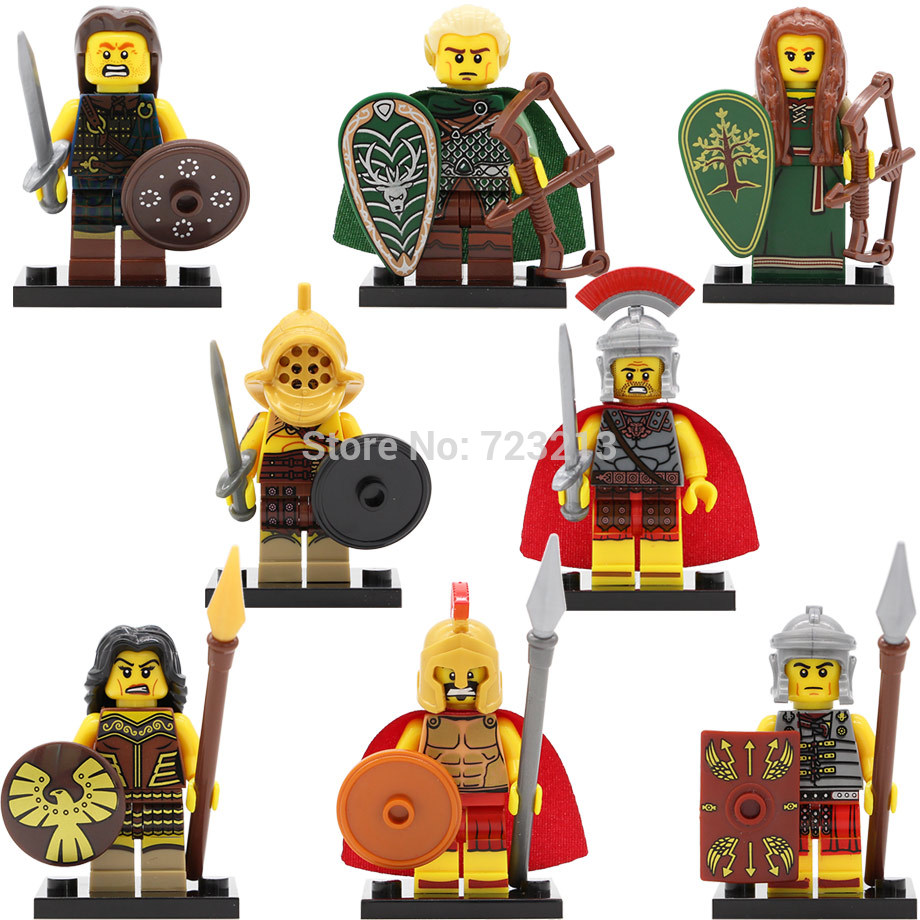 Single Sale Rome Gladiatus Figure Elf Hunter Witch Elves Fighter Hero Of Sparta Building Blocks Set Model Toys Legoing