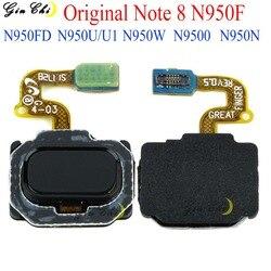 Originale Nuova Nota 8 di Tocco ID del Tasto della Casa Per Samsung Galaxy Note 8 Cavo Della Flessione del Sensore di Impronte Digitali di Montaggio Parti di Ricambio n950