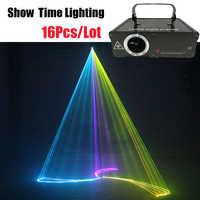 16 pz/lotto Dj Lazer 500mw RGB del fumetto linea Laser animale fiore danza Scanner A Casa La Luce Del Partito Del DJ di Illuminazione Della Fase KTV laser Show
