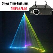 16Pcs/Lot Dj Lazer 500mw RGB cartoon line Laser animal flower dance Scanner Light Home Party DJ Stage Lighting KTV Show laser