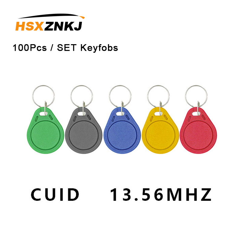 100Pcs / Batch Keyfobs Token Label S50 13.5MHZ CUID Changed MF S50 1K IC Keychain NFC Replica Copy Block 0 Can Write 14443A
