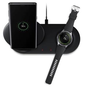 Image 5 - 25 w 2 em 1 rápido qi carregador de telefone sem fio tipo almofada c suporte carregamento rápido para samsung galaxy note 9 s10 s10 + relógio s2 3