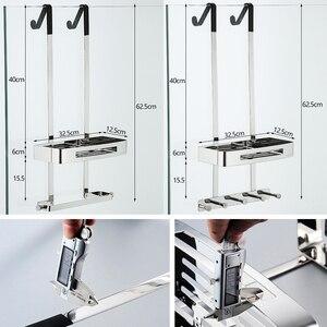 Image 3 - 浴室のシャワー棚 2 重層シャンプーホルダーバス収納タオルぶら下げ浴室ステンレス鋼ポリッシュELM330