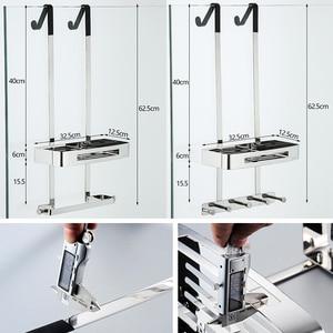 Image 3 - Bathroom Shower Shelves 2 Layer Shampoo Holder Bath Storage Towel Hanging Bathroom Stainless Steel Polished ELM330