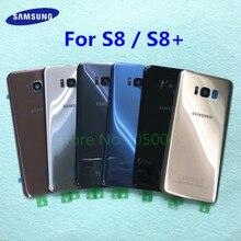 Задняя стеклянная крышка Корпус Замена батарейного отсека+ рамка для камеры для samsung Galaxy S8 Plus S8+ G955 G955F G950 G950F