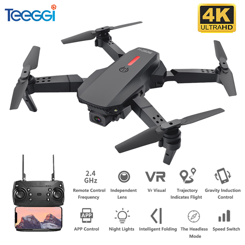 Teeggi M73 RC Drone WiFi FPV Quadcopter Drone with 480P/4K HD Camera Drone Foldable Drones Toy Mini Dron VS E68 E61 SG106 XS816|RC Quadcopter| - AliExpress