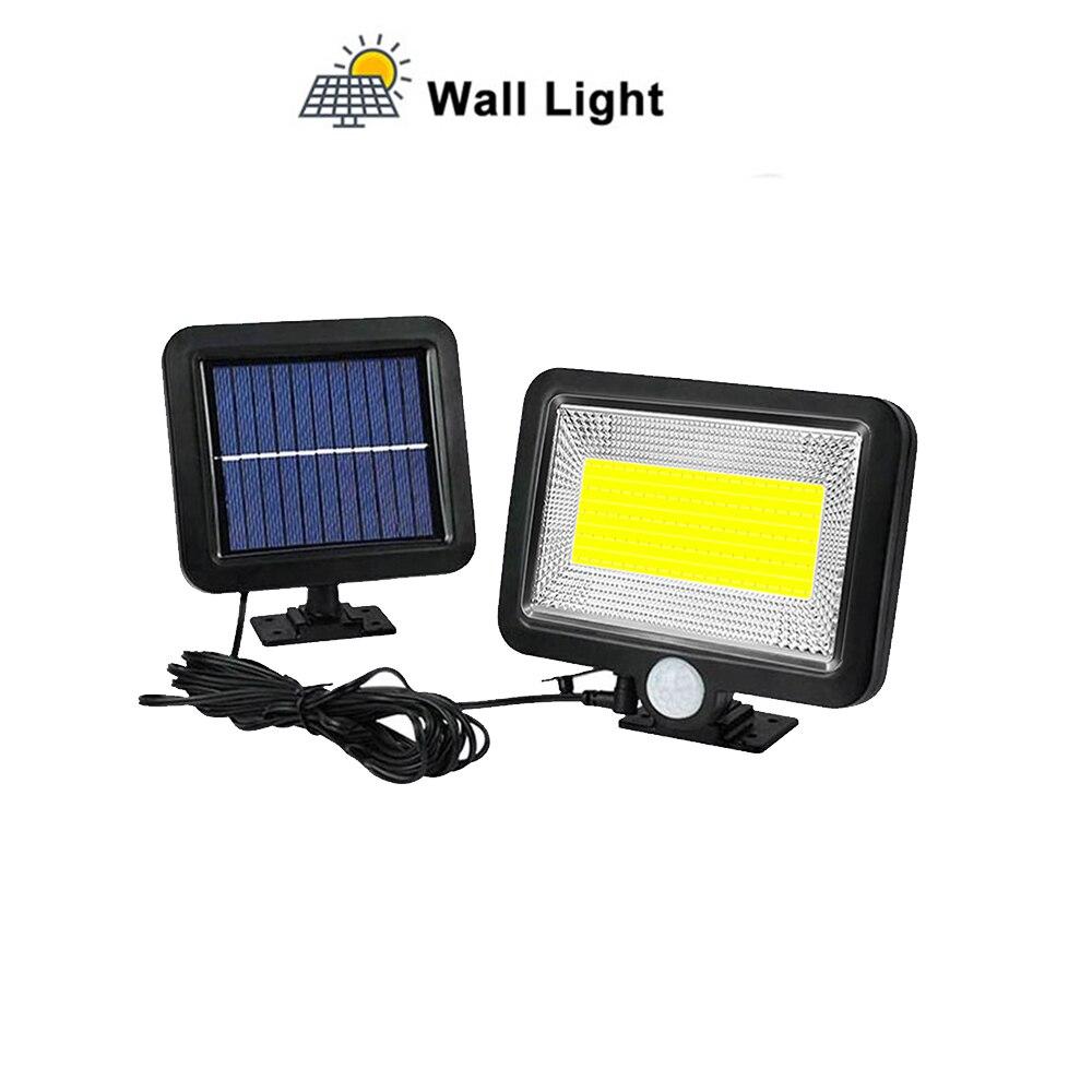Outdoor Wall Light Security Solar Lamp With Motion Sensor Aluminum Alloy Street Porch Light Lampada 56/30 LED Waterproof Split M