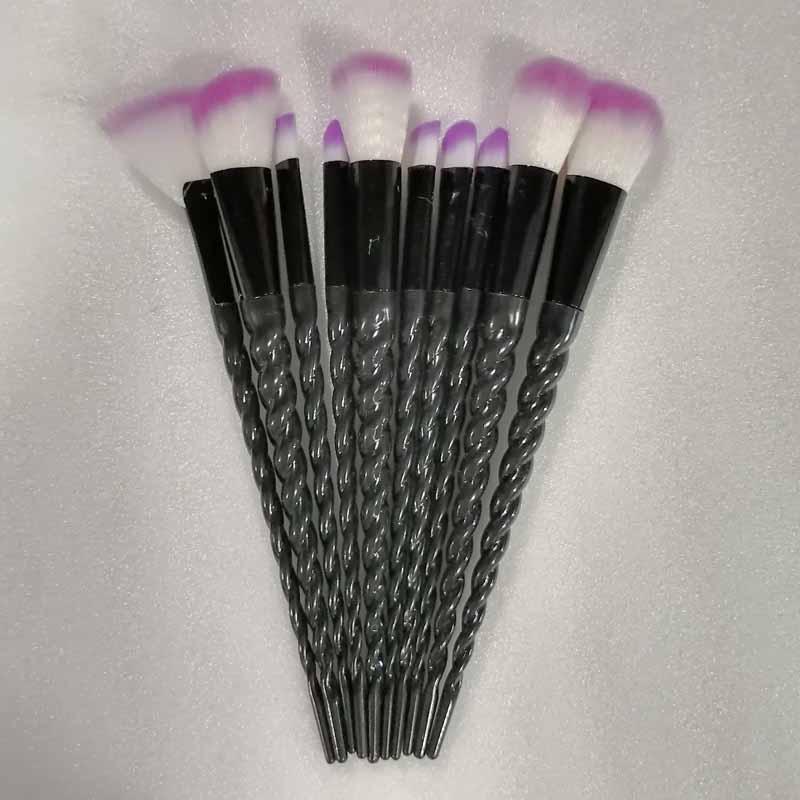 10pcs Unicorn Makeup Brushes Sets Maquiagem Foundation Powder Cosmetic Blush Eyeshadow Women Beauty Glitter Make Up Brush Tools 6