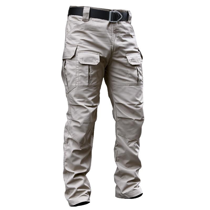 Men's Tactical Pants Autumn Camouflage Military Casual Combat Cargo Pants Water Repellent Ripstop Long Trousers Plus Size 3XL
