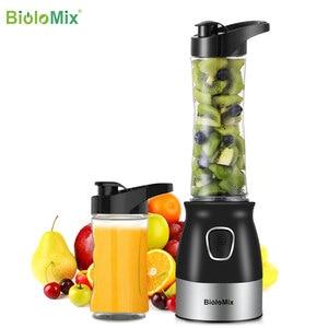 Image 3 - BPA FREE 500W Portable Personal Blender Mixer Food Processor With Chopper Bowl 600ml Juicer Bottle Meat Grinder Baby Food Maker