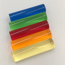 Акриловые стержни od25x1000 мм многоцветное Прозрачное пластиковое