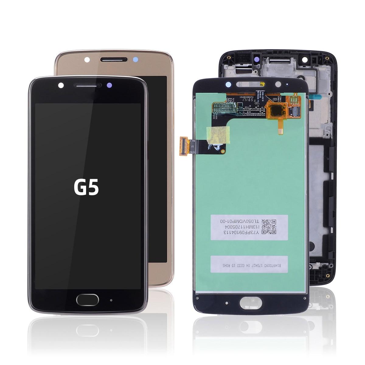 Original Display For Motorola Moto G5 Display LCD Touch Screen With Frame For Moto G5 Display LCD Digitizer Replacement XT1676