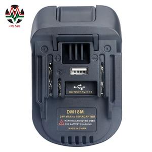 Image 1 - 20に18vバッテリーコンバータアダプタDM18M dewalt mikwaukeeのためにリチウムイオン充電器マキタBL1830 BL1850電池2020