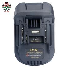 20V כדי 18V סוללה ממיר מתאם DM18M עבור Dewalt עבור Mikwaukee כדי ליתיום מטען לקיטה BL1830 BL1850 סוללות 2020